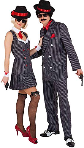 Orlob Damen Kostum Mafia Ganovin 20er Jahre Zu Karneval Fasching Gr