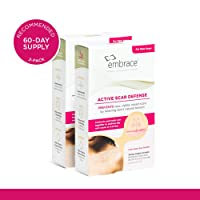 Embrace Active Scar Defense for New Scars, FDA-Cleared Silicone Scar Sheets (Size Medium (2.4 Inch)) 60 Day Supply