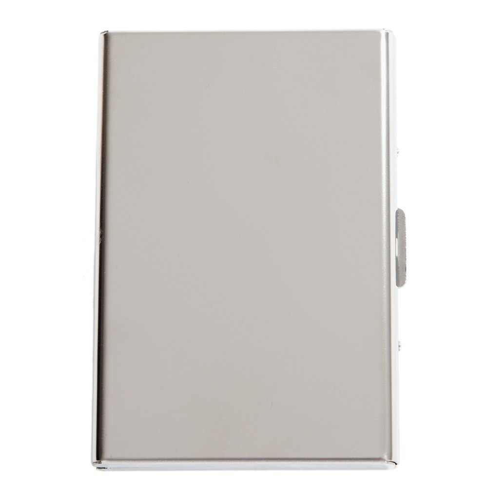 SILVER RFID Stainless Steel Card Holder Business Card Case Credit ...