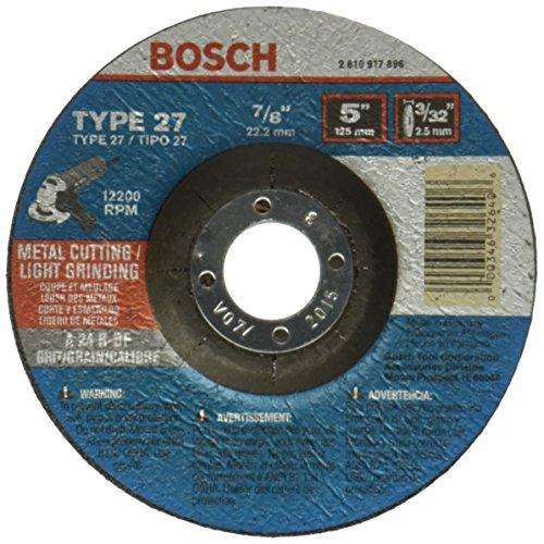 UPC 000346326406, Bosch CG27M500 5-Inch Metal Cutting Type 27 1/8-Inch by 7/8-Inch Grinding Wheel