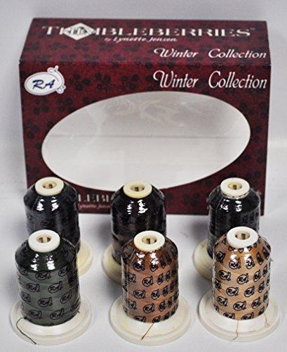 (Thimbleberries Winter Super Stitch Cotton Quilting Thread Set.)