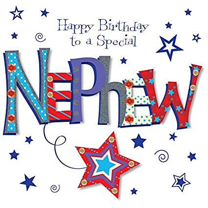 Image Unavailable Not Available For Color Special Nephew Happy Birthday Greeting Card
