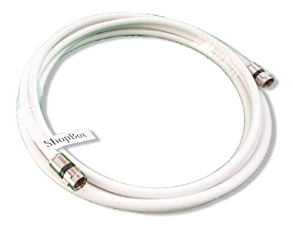 White RG-6 Coax 75 Ohm Cable (High Performance Solid Copper & UL Approved