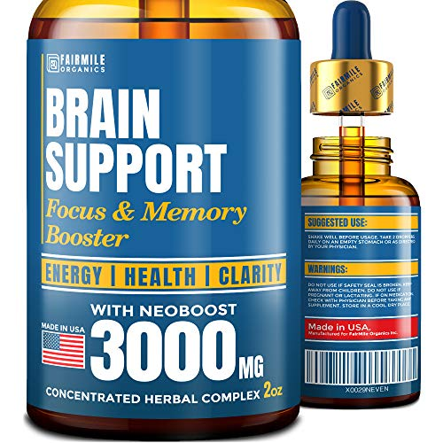 Brain Supplement for Memory, Focus, Energy & Clarity – Natural Nootropic with Ginkgo Biloba, Ginseng & L-Tyrosine – USA Made – Mental Health & Concentration Boost – Better Absorption Than Brain Pills