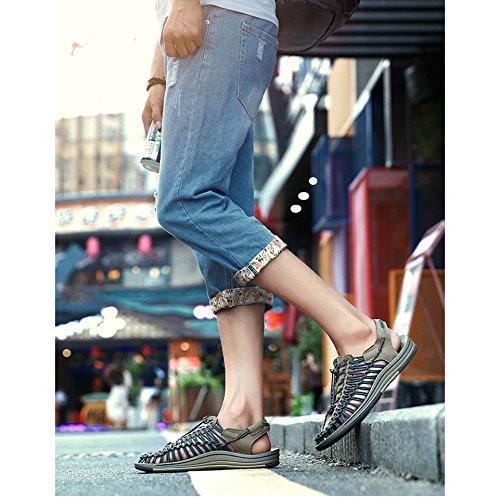 Sandalias Tejidas Marea Luo 2018 Los Hombres Verano blue A La Transpirables De Ocasionales Zapatos Mano YXLONG Simples De Personalidad Playa Zapatos Nuevo De q4OSxxt0