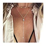 Best Necklaces With Long Chains - Wowanoo Vintage Double Layer Alloy Crystal Choker Necklace Review