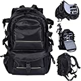 Yosoo Black Multifunctional Deluxe DSLR Camera Backpack Bag Case Shockproof Waterproof For Canon Nikon & Rain Cover