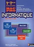 Image de Informatique 1e et Tle professionnelles Vente - Commerce - Accueil, relation clients et usagés (F