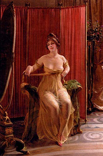 Toperfect $50-$2000 Custom Made - Hand Painted Art Paintings of The Art Connoisseur Lady Frederic Soulacroix Famous Oil Painting on Canvas for Wall Art Decor -Size 04