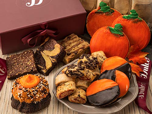 Halloween Ideas For College Parties (Dulcet Bakery Autumn Gift Box Filled with Halloween -Thanksgiving Treats Chocolate Bundt-Fudge Brownies-Sugar Cookies-Fruit filled Rugelah Great Gift Idea for men-women and)