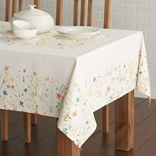 Maison d' Hermine Colmar 100% Cotton Tablecloth 60 - inch by 120 - inch.