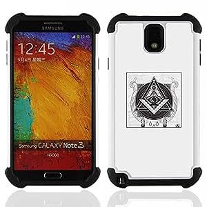 For Samsung Galaxy Note3 N9000 N9008V N9009 - free mason pyramid symbolism black Dual Layer caso de Shell HUELGA Impacto pata de cabra con im????genes gr????ficas Steam - Funny Shop -