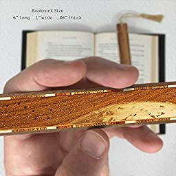 Outer Space - Big Dipper with Earth Engraved Wooden Bookmark with Tassel