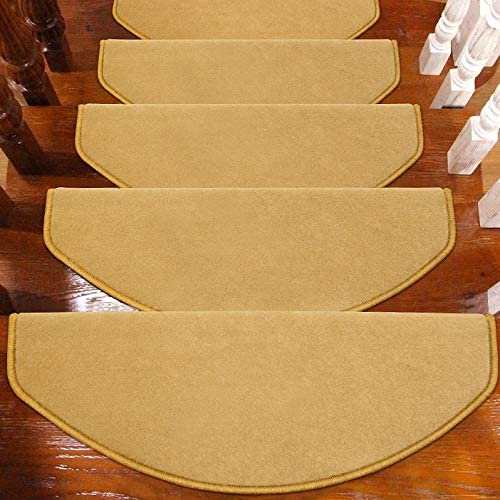 ZHAO YING Sólido de Color Huellas de escalón Alfombrilla Antideslizante for alfombras de escaleras Espesar Antideslizante Escalera Mats, Interior Exterior Escalera Mats: Amazon.es: Hogar