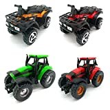 Toy Car for Children-Mini Q Model of Alloy Beach Motorcycle and Model of Farmer's Vehicles