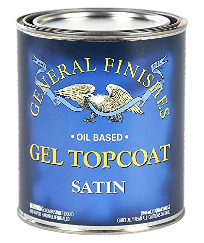 General Finishes SH Gel Topcoat, 1/2 Pint, Satin