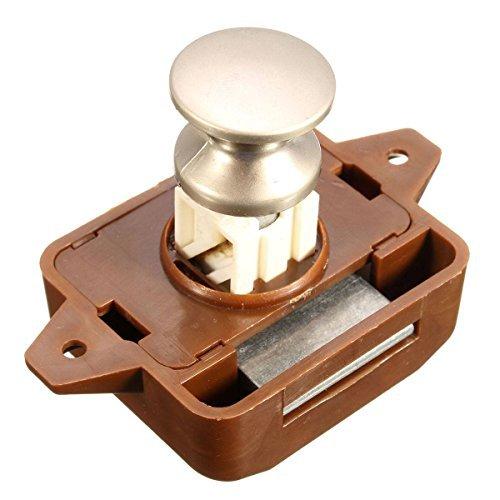 MATCC Push Button Catch Push Button Cabinet Latch For Rv/motor Home Cupboard  Caravan Lock For Cupboard Push Latch Lock Push Button Latch