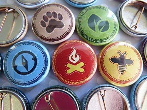 Costumes From The Movie Up (Scout Badges, Merit Badges Pins - Outdoor Nature Camp Badges Pins - 1 Inch Small Mini - Set of)