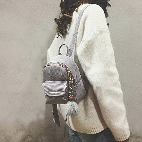 Mode Symboat à Femmes Backpack Bandoulière Capacité Mini Durable grey Mini Lady Zipper Sac Forte zHzqwrI