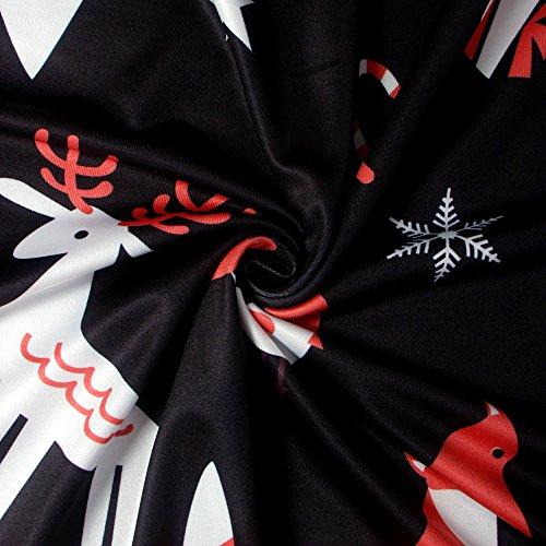 Weihnachten Minirock Damen Weihnachts Bäume Weihnachtsmann Schneemann Rentier Rudolph Geschenk Glocken Geschenk Rudolph Langarm Rundkragen Blusenkleider Druckkleider