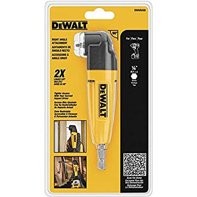DEWALT Right Angle Drill Adapter DWARA050 HD Version in Retail Pack