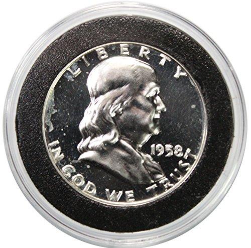 Franklin Half Dollar Silver Coin - 1958 Silver Franklin Half Dollar Proof
