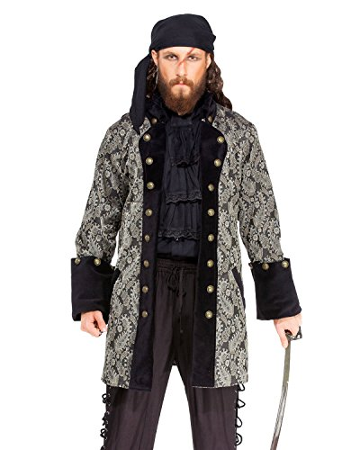 Pirate Medieval Renaissance Captain Jan de Bouff Coat Jacket Costume [C1412] ()