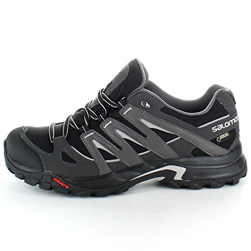 Salomon Mens Eskape GTX GoreTex Walking Hiking Shoes Black Black