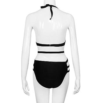 Sonnena Sexy Bikini una Pieza,Cinturones de Cuello Cintura Alta Traje de Bano Talla Grande Push up Pecho Talla Extra binini para Prime Mujer Casual Braga ...