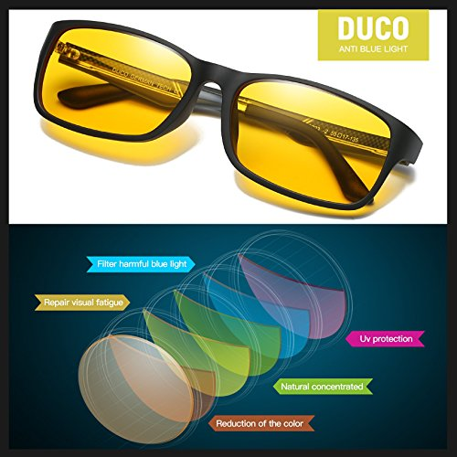 b46108c01274 DUCO Glasses for Video Games 223 PRO Anti-Glare Protection - Import It All