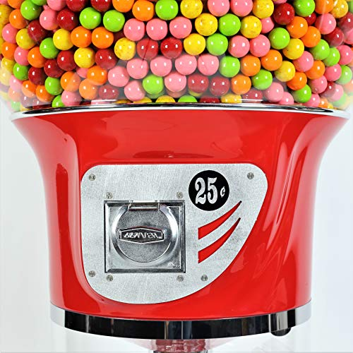 Giant Wizard Spiral Gumballs Vending Machine Height 5'6'' - $0.25 - for Gumballs (Red) by Global Gumball (Image #5)