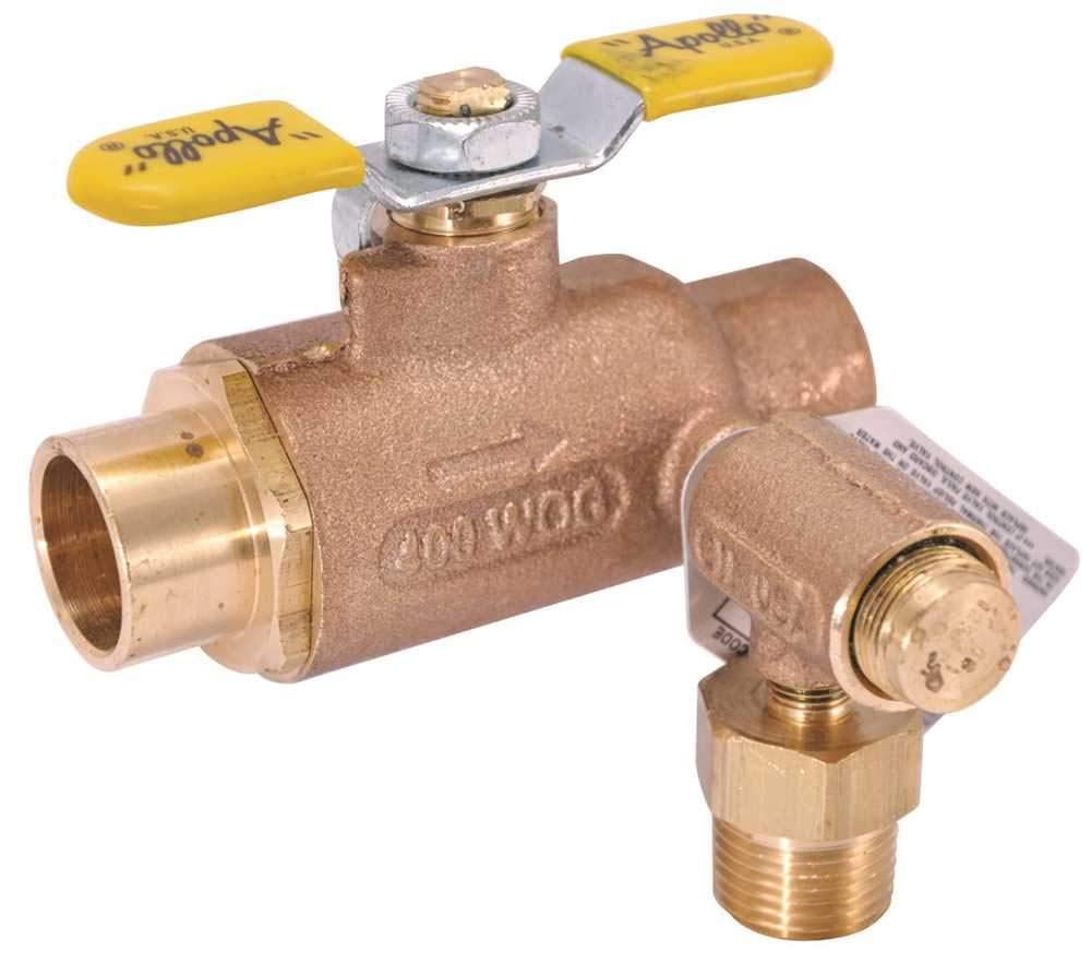 Apollo Valves 78LF307RV Solder End Thermal Expansion Relief Valve, 3/4'' with 1/2'' Sweat Ro Thread Outlet, 125 Psi. Lead Free, 3.3'' x 7.6'' x 4.8''