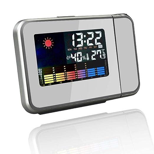 DAPENF Despertador de proyección, Reloj de proyector Digital con ...
