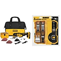 DEWALT 20V XR Brushless Oscillating Multi-Tool Kit with 5-Piece Accessory Kit Bundle