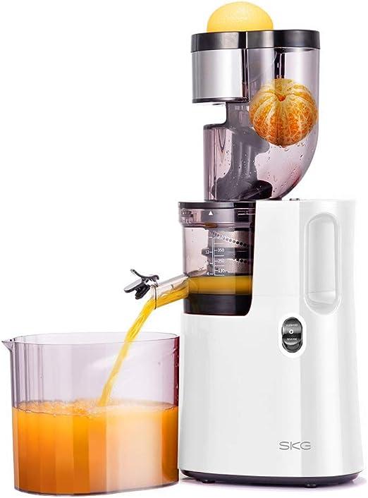 SKG Slow Masticating Juicer Wide Chute Cold Press Juicer Machine BPA Free (200W AC Motor, 45 RPM), White