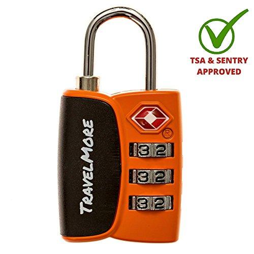 Open Alert Indicator TSA Approved 3 Digit Luggage Locks To Lock Travel Suitcase