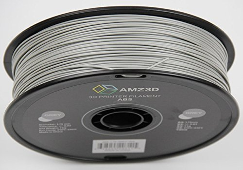 - Dimensional Accuracy +//- 0.03mm 1kg Spool 2.2 lbs 1.75mm Grey ABS 3D Printer Filament