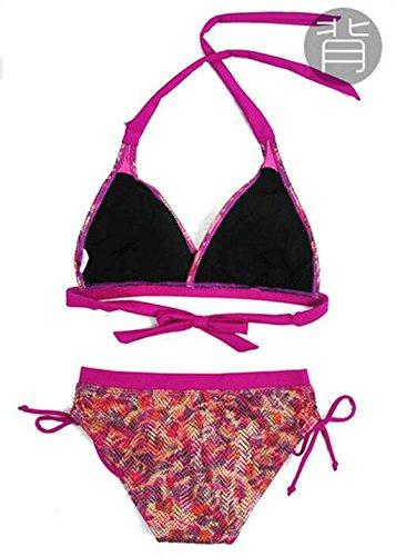 Traje de baño de las señoras Bikini malla de superficie Split bikini señoras traje de baño spa traje de baño playa traje de baño Bikini Pink