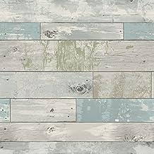 WallPops NU1647 Beachwood Peel and Stick Wallpaper, Multi-Color