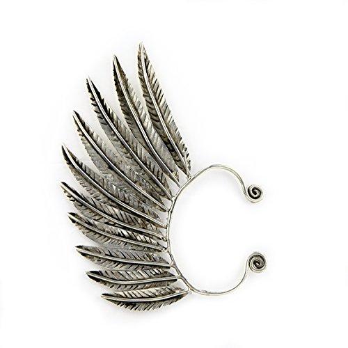 TIBOX Handmade Feather Ear Wrap Ear Cuff Earrings -