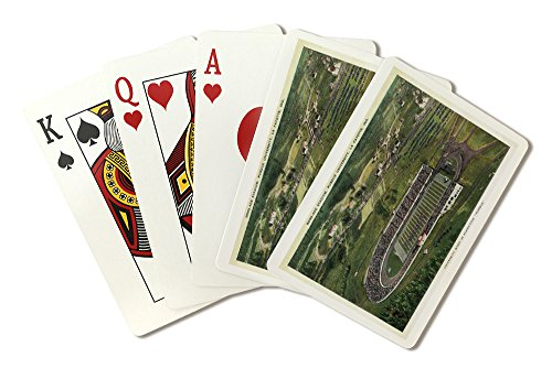 La Fayette, Indiana - Purdue University; Aerial of Ross-Ade Stadium (Playing Card Deck - 52 Card Poker Size with Jokers) (Stadium Ross Ade)