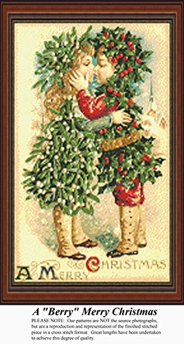 A Berry Merry Christmas, Vintage Counted Cross Stitch Patter