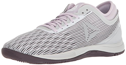 Reebok Women's CROSSFIT Nano 8.0 Sneaker, White/Stark Grey/Quartz/s, 5.5 M US