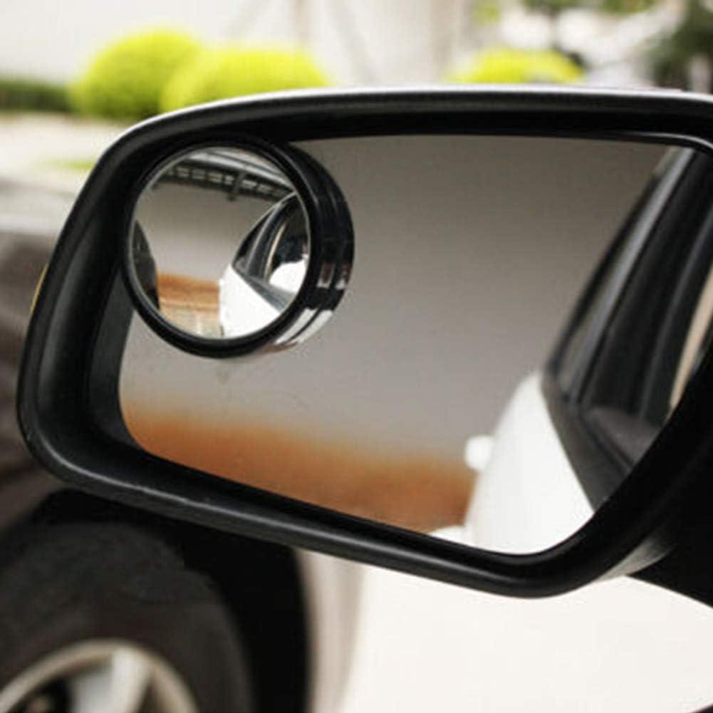 runde Form Verlike 1 Paar Auto Verstellbare R/ückspiegel f/ür Toten Winkel Konvexe Weitwinkel Seitenspiegel