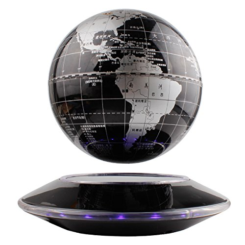 TYoung 6″ Magnetic Levitation Floating Globe Display for Room Office Decor Geology Science Learning Development Enducation – Siliver
