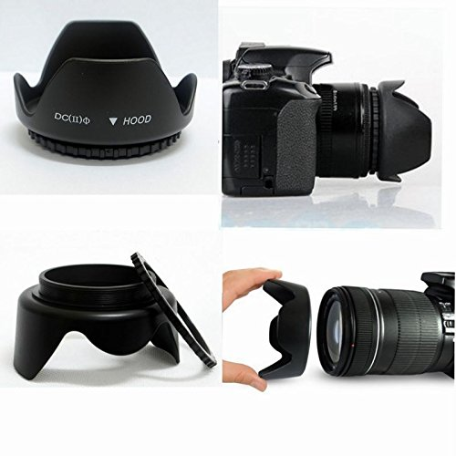 49mm Lens Hood Screw Mount Petal Crown Flower Shape for 49mm lens 49mm filter (Flower Crown Shape Petal)