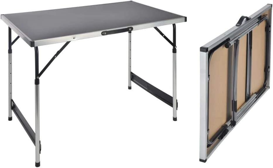 Haushalt International - Mesa Plegable para Acampada (Altura Regulable, 100 x 60 x 73-94 cm): Amazon.es: Juguetes y juegos