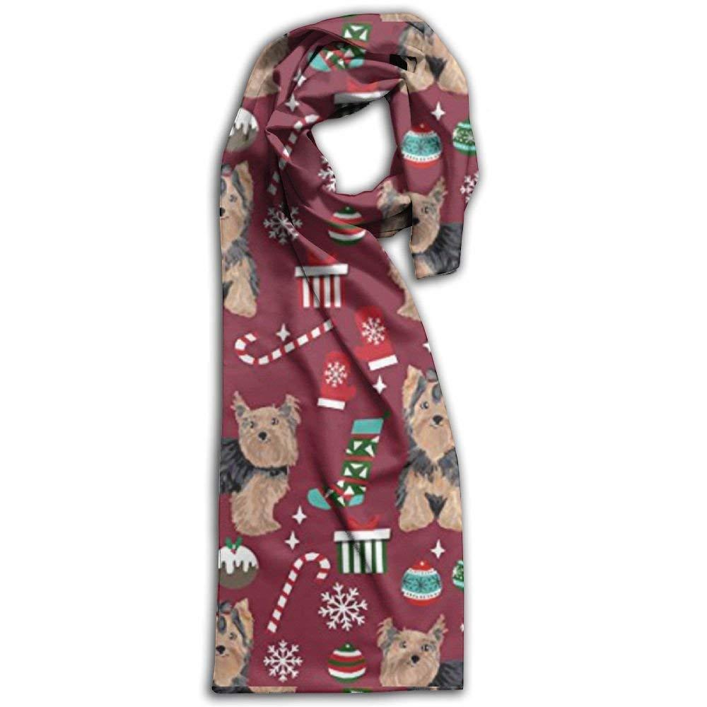 Yorkshire Terrier dog breed print scarves printed ladies fashion womens shawl