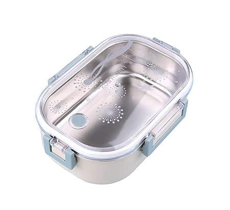 Estilo Japonés Seal Lunch Box Acero Inoxidable Reutilizable ...