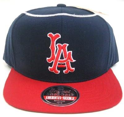 MLB Men's American Needle 1961 Los Angeles Angels Cooperstown 400 Snapback Cap (Navy, Adjustable)